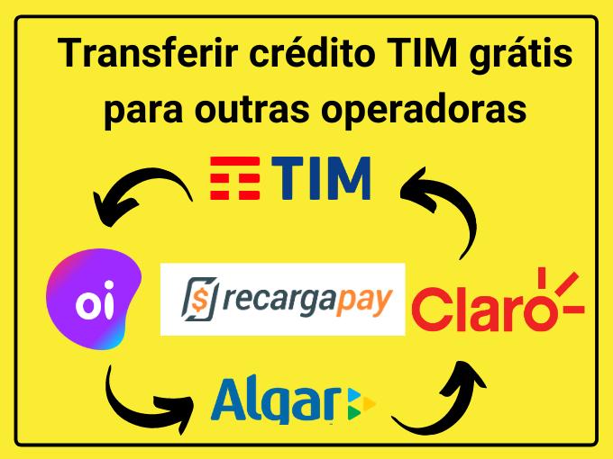Transferir crédito TIM grátis para outras operadoras