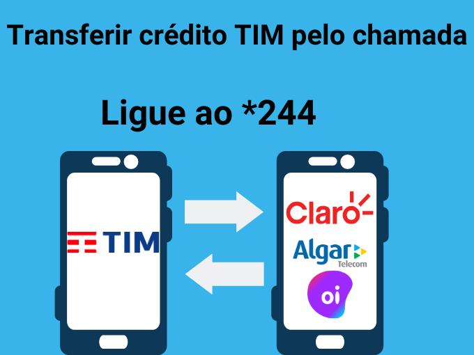 Você também pode transferir crédito TIM ligando para *244