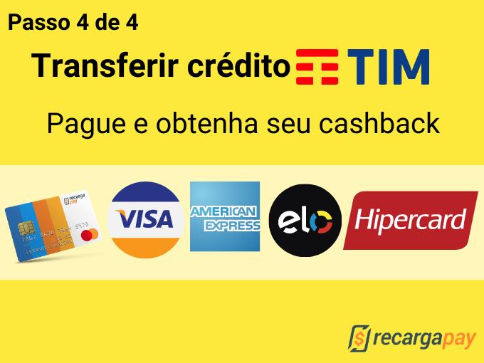 Passo 4 de 4 para transferir crédito TIM
