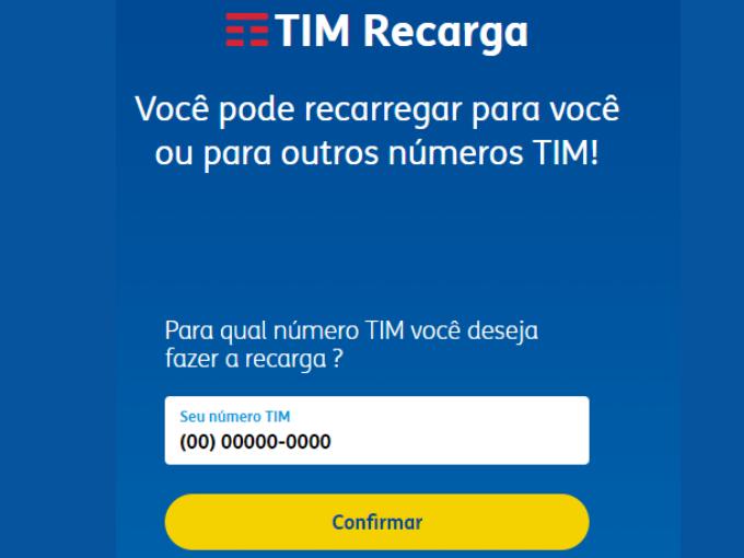 Transferir crédito TIM pelo site oficial de TIM